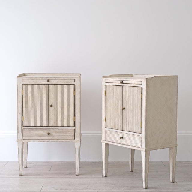 Georgia Lacey Bespoke Pair of Lotta Gustavian Style Nightstands For Sale - Image 4 of 13
