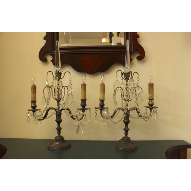 19th Century Italian Girondole Lamps - A Pair - Image 2 of 5