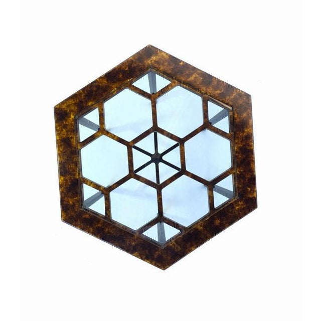 John Widdicomb John Widdicomb Tortoiseshell Honeycomb Side Table For Sale - Image 4 of 6