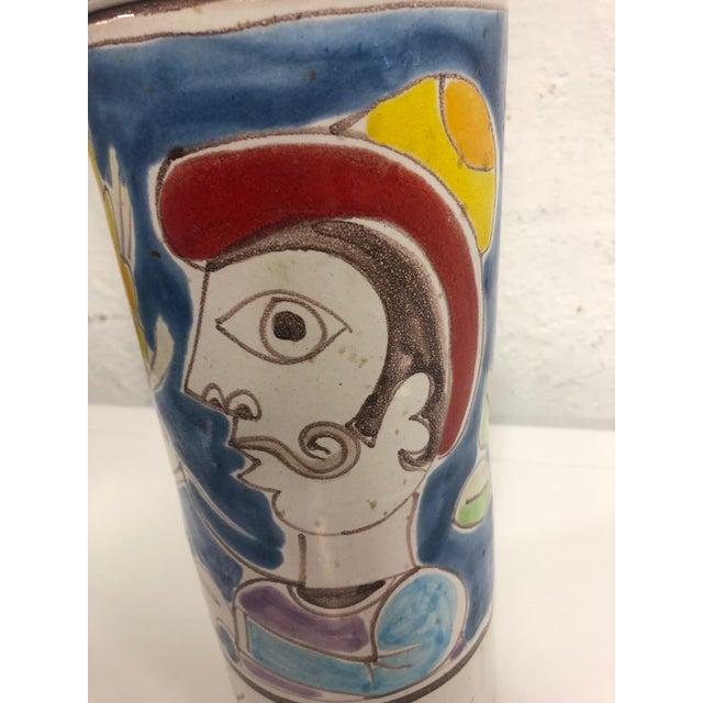 1960s Vintage DeSimone Pottery Jar For Sale - Image 5 of 7