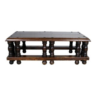 Spanish Revival Style Rectangular Coffee Table Artes De Mexico Internacionales Attribution For Sale