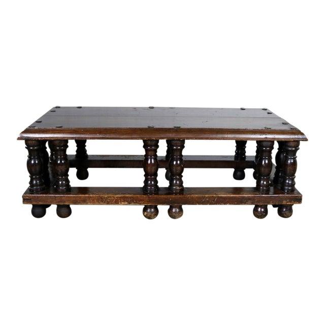 Spanish Revival Style Rectangular Coffee Table Artes De Mexico Internacionales Attribution For Sale