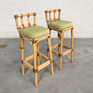 1960s Vintage Rattan Bar Stools- A Pair Preview