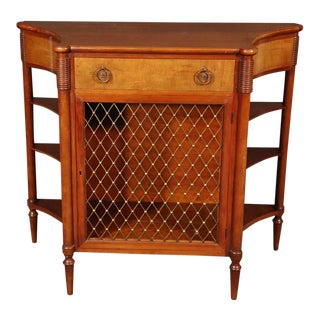 French Directoire Style Walnut Narrow Console Table For Sale