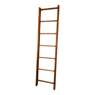 Antique Wood Display Ladder For Sale