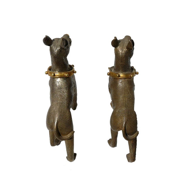 Metal Mini Table Top Dogs Figure - Pair - Image 3 of 5