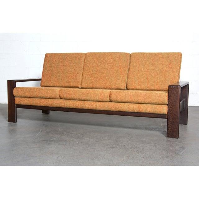 Wenge Modern 1970's Three-Seater Sofa - Image 2 of 11