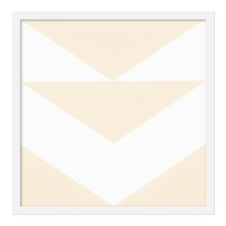 """Cream Arrow Down"" Print by Jason Trotter, 20"" X 20"" For Sale"