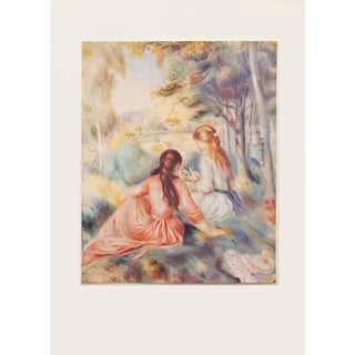 """Renoir """"In the Meadow"""", 1950s First Edition Photogravure For Sale"""