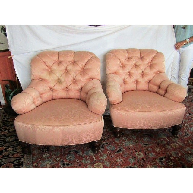Vintage Baker Lounge Tub Chairs - A Pair - Image 2 of 6