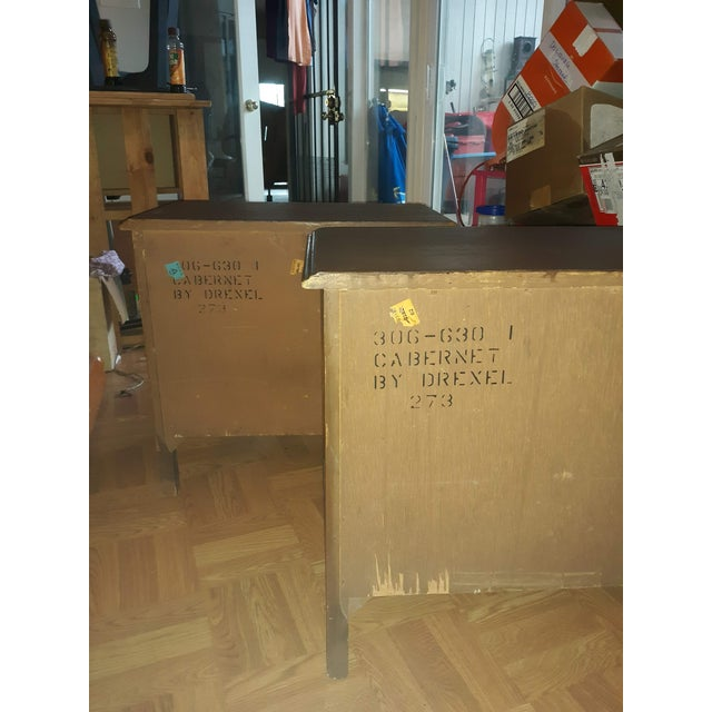 Chestnut French Provincial Drexel Heritage Side Tables - a Pair For Sale - Image 8 of 13