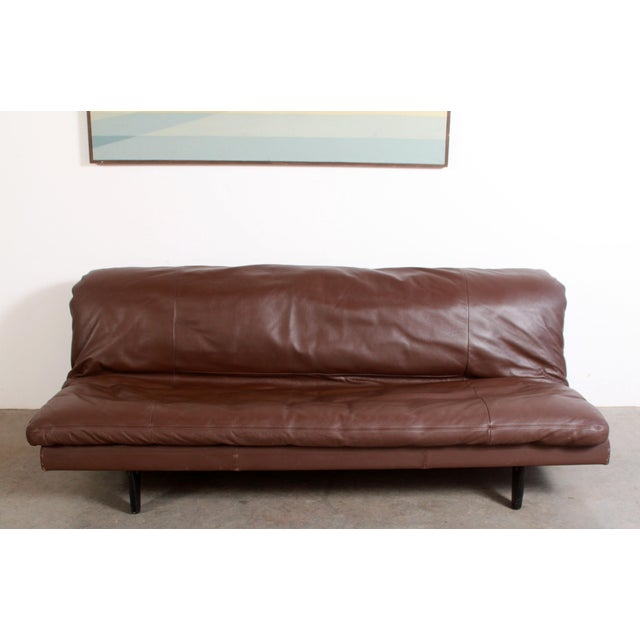 De Sede DeSede Ds169 Brown Leather Convertible Sofa For Sale - Image 4 of 12