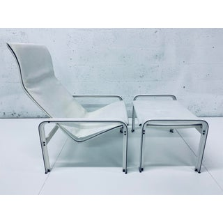 """Matteo Grassi Leather """"Sistina"""" Lounge Chair and Foot Stool, Vintage 1980s Preview"""