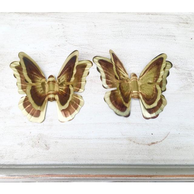 Vintage Metal Butterflies - A Pair - Image 2 of 5