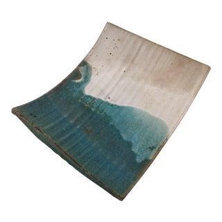 Mid-Century Artisan Ceramic Sushi Tray