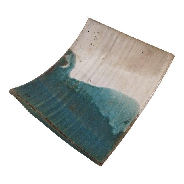Mid-Century Artisan Ceramic Sushi Tray For Sale