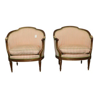 French Louis XVI Style Marquises with a Gold Leaf Finish - a Pair For Sale