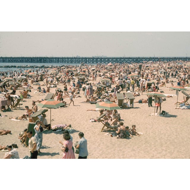 1960s Vintage Coney Island Brooklyn Beach Photograph Print For Sale