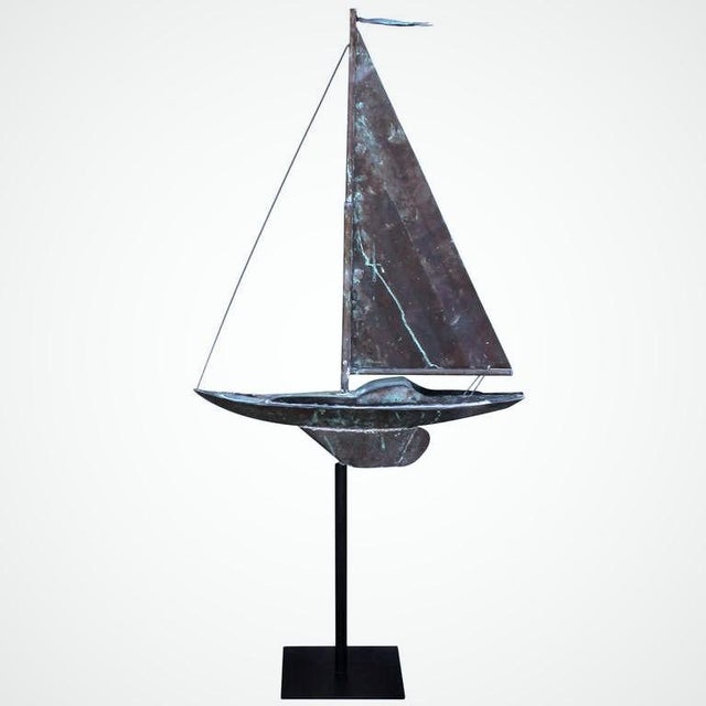 This beautifully hand crafted, full bodied, 19th century New England copper weather vane is fashioned in the shape of a...