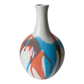 """Vintage Studio Pottery 11"""" Glazed Vase"""