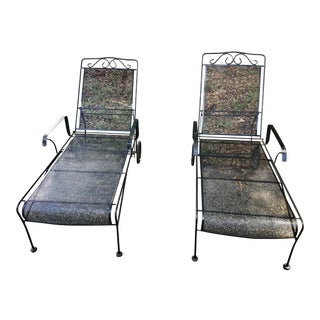 Vintage Wire Mesh Lounge Chairs For Sale