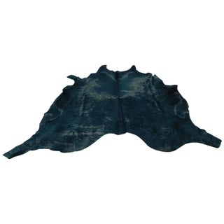 Black Cowhide Rug-5'x6'6' For Sale