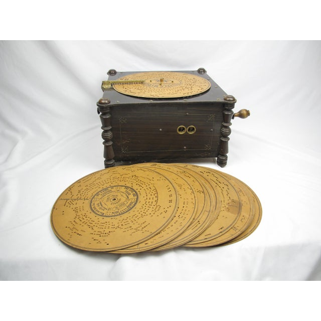 Ariston Organette Music Box Player With Punched Paper Records For Sale - Image 10 of 10