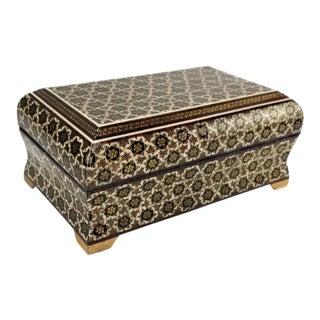 Vintage Persian Khatam Micro Mosaic Inlaid Box For Sale