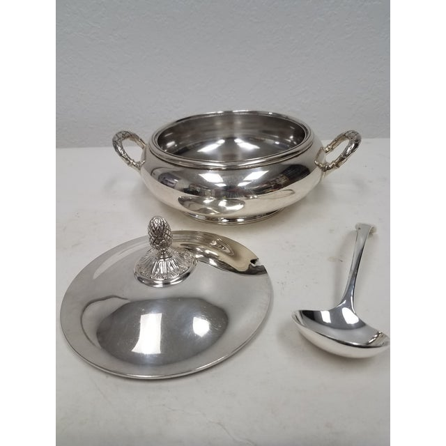 Antique English Silver Plate Elkington Server For Sale - Image 4 of 11