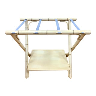 Faux Bamboo Folding Luggage Rack For Sale