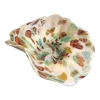 Vintage Art Glass Decorative Bowl For Sale