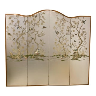 Large Scale Hollywood Regency Folding Screen Att. To Gracie For Sale