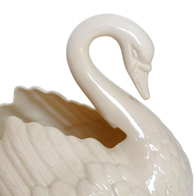 Lenox Vintage Lenox White Porcelain Swan Planter For Sale - Image 4 of 5