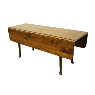Ethan Allen Antiqued Pine Old Tavern Drop Leaf Farmhouse Style Dining / Accent Table For Sale