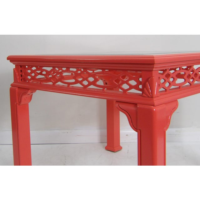 Late 20th Century Contemporary Coral Class Top, Decorative Coffee Table For Sale - Image 5 of 7