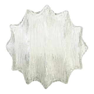 Star Shaped Murano Glass Flush Mounts or Sconces For Sale