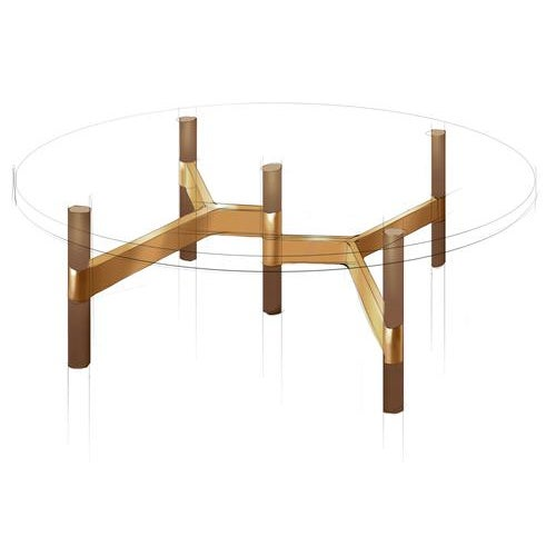 2010s Danish Modern Design Within Reach Helix Coffee Table For Sale - Image 5 of 6