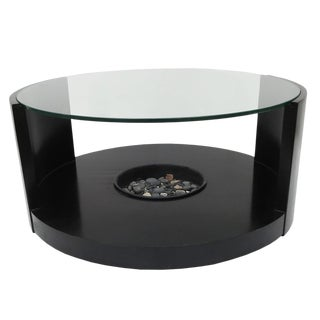 Modernage Mid Century Coffee Table in Ebonized Wood and Glass For Sale