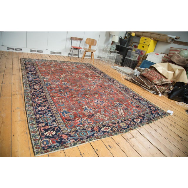 "Vintage Heriz Carpet - 7'6"" X 11'1"" - Image 2 of 10"