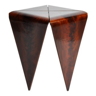 French Mahogany Veneer Side Table For Sale