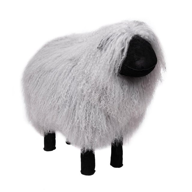 2020s Tibetan Lamb Sheep in Grey Large For Sale - Image 5 of 5