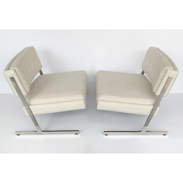 """Designer: Harvey Probber USA - Circa 1960s Dimensions: 27.5"""" H x 29"""" W x 28"""" D Seat 17"""" H Condition: Newly upholstered...."""