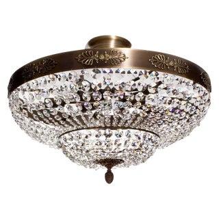 Dark Brass Plafond Chandelier For Sale
