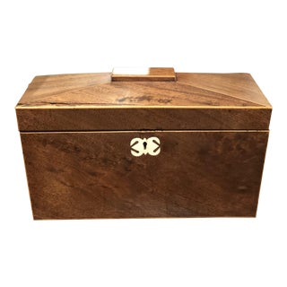 English Tea Caddy in Rosewood For Sale