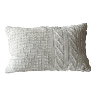 Contemporary Cream Knit Pillow