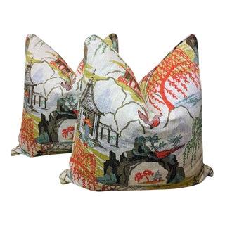 Robert Allen Neo Toile Pillows - A Pair