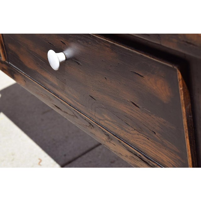 1990s Danish Modern Alden Parkes iReclaimed Wood Sofa/Console Table For Sale - Image 4 of 10