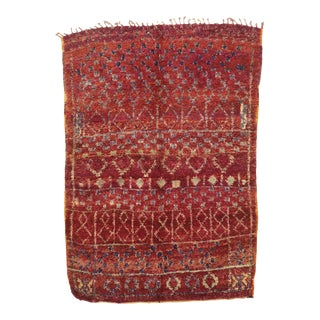 Vintage Berber Moroccan Rug - 06'11 X 10'00 For Sale