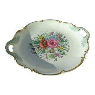 Hutschenreuther Floral Porcelain Serving Dish For Sale