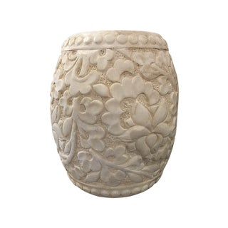 Carved Marble Stool For Sale